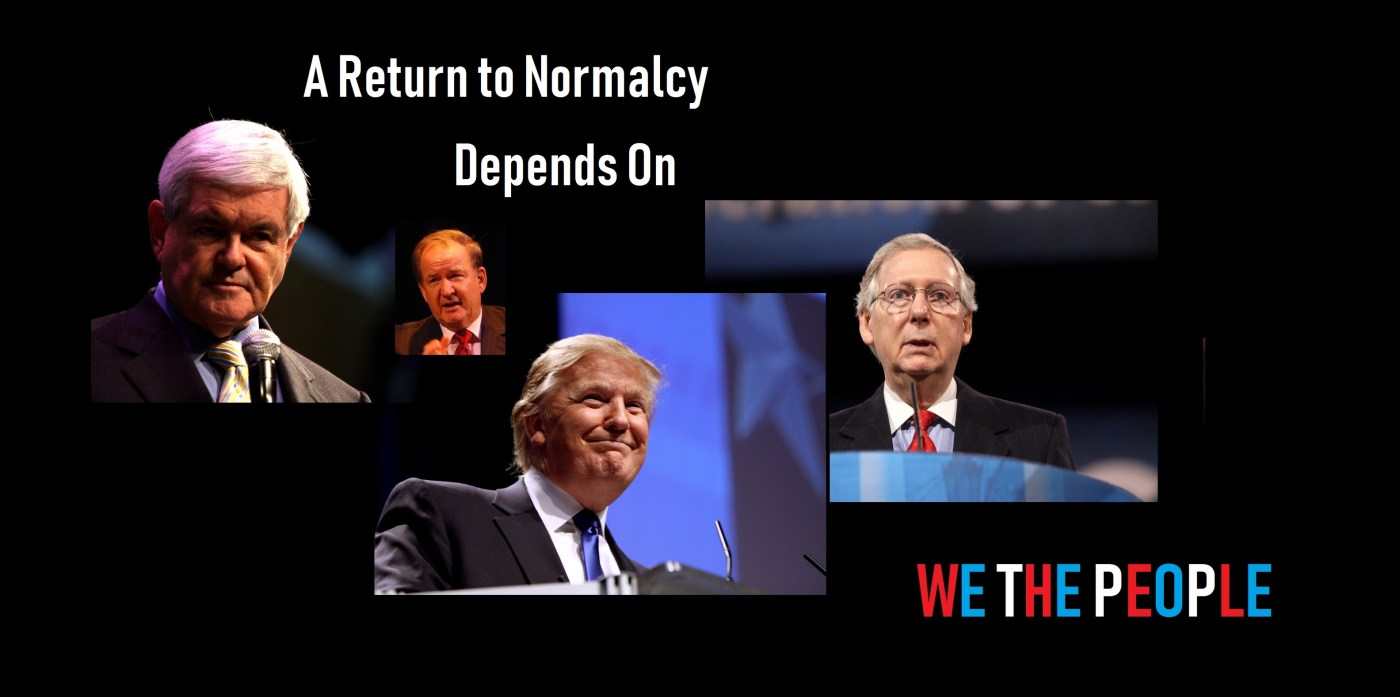 Return to Normalcy depends on We The People